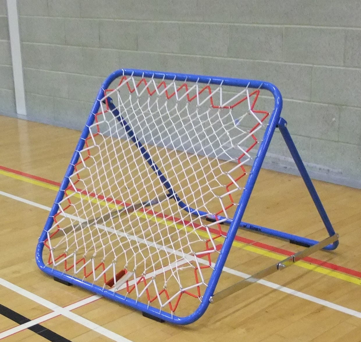 a net in the sports hall