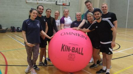 students with the Kin-Ball