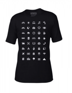 The IconSpeak t-shirt was made by ex-US military. Available here: https://iconspeak.world/