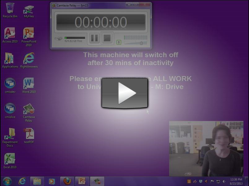 screenshot of camtasia relay video