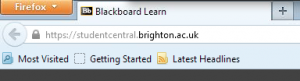 studentcentral on firefox