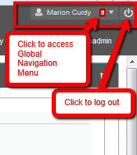 Global Navigation Menu