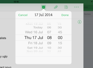 create time for evernote reminder