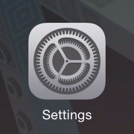 Settings area on device