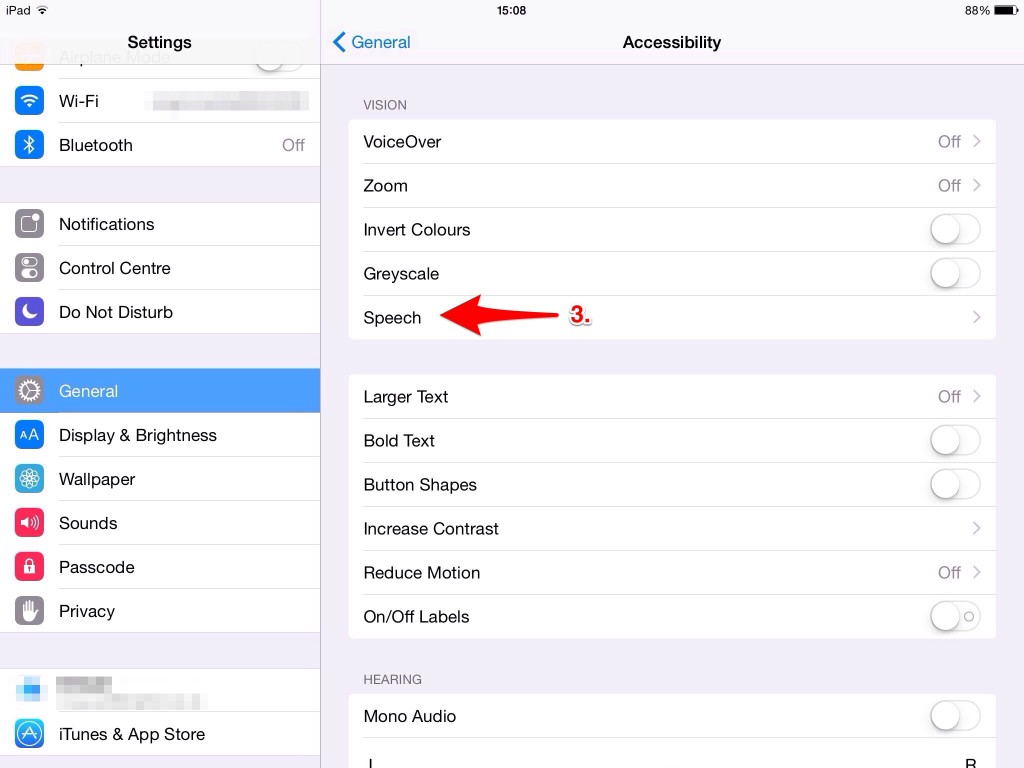 Accessibility_Speech settings