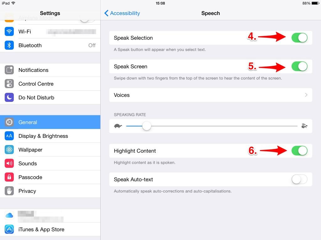 Accessibilty_Speech settings