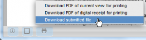 Download the submitted file