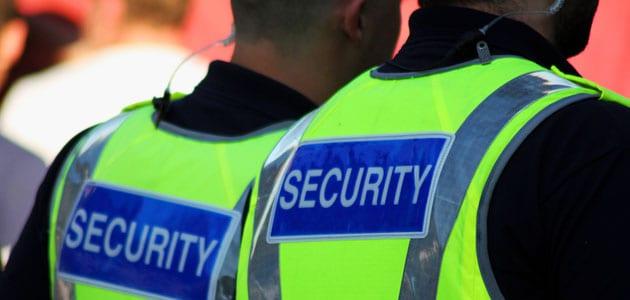 Door security staff or bouncers