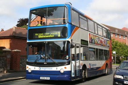 A Stagecoach bus in Eastbourne