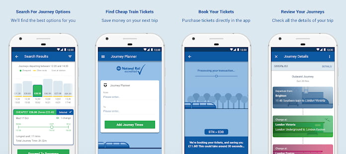 Trainsplit app screenshots