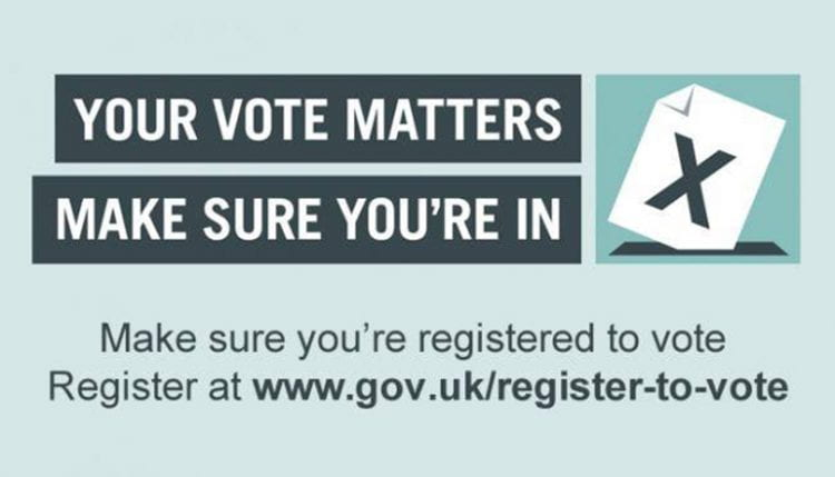 Your vote matters. Please register to vote.