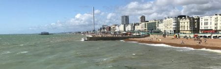 Brighton seafront and beach from the Palace Pier