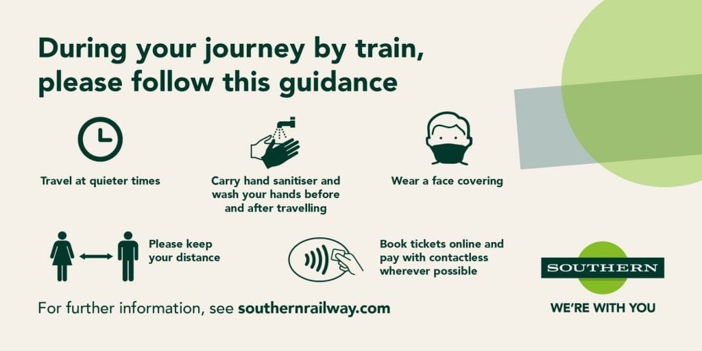 Train travel guidance from Southern Railways