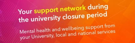 Your support network during the university closure period