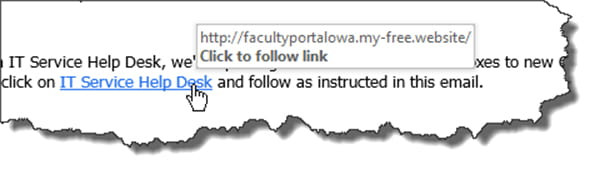 Screenshot of how to check links