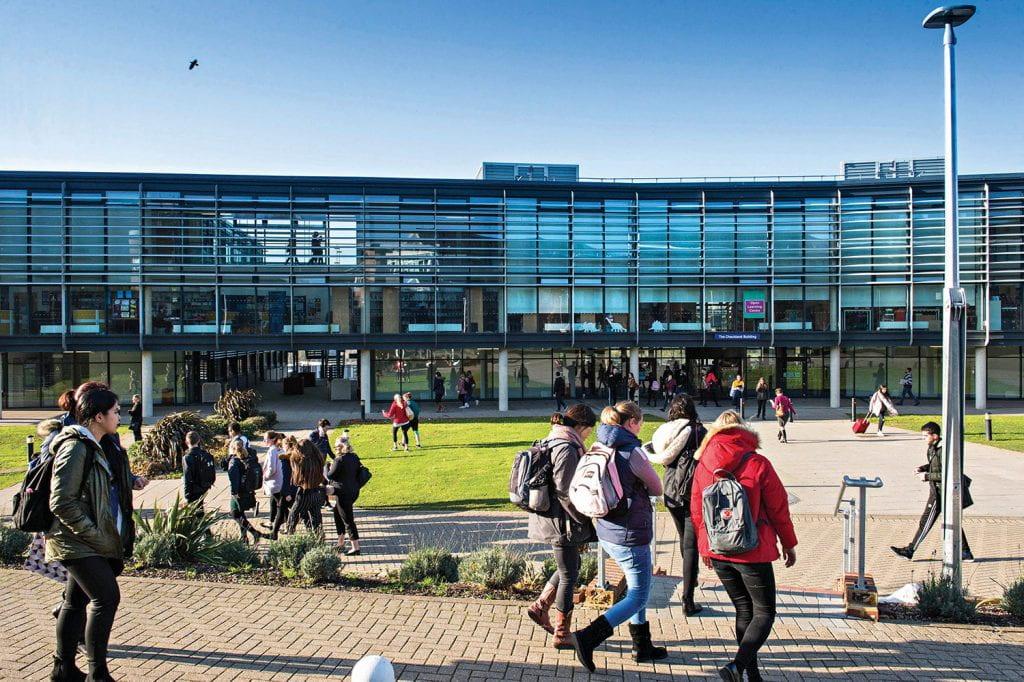 Checkland building on Falmer campus