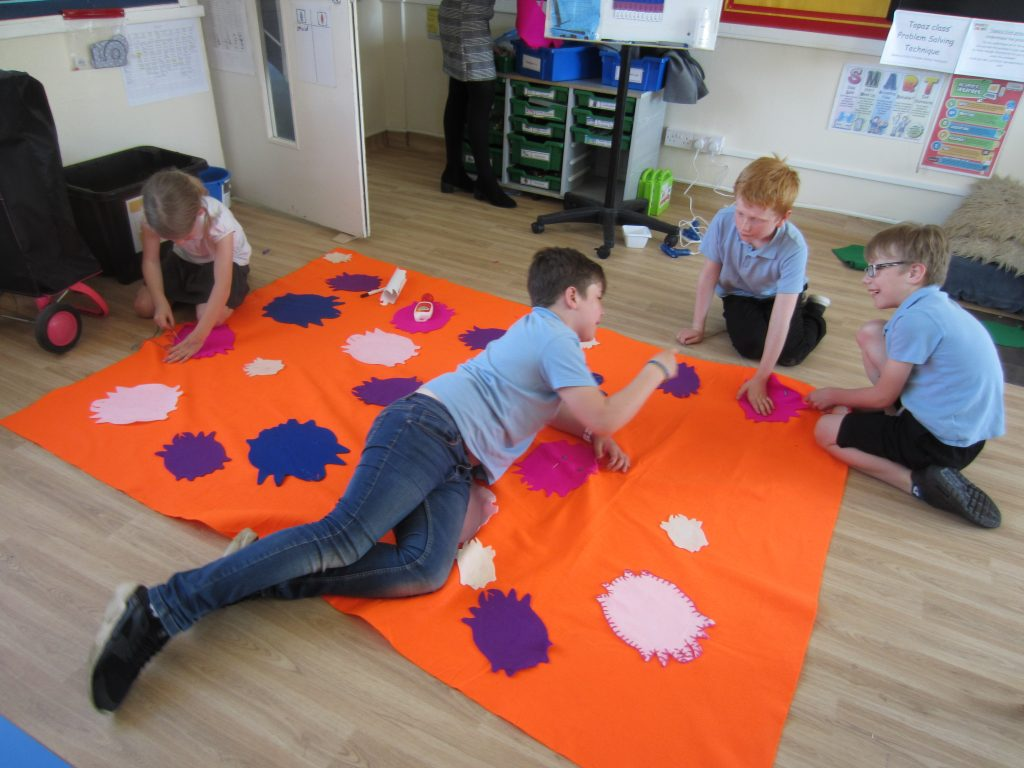 children on mat