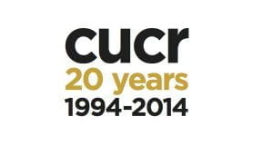 Logo for CUCR Centre for Urban Community Research with words 20 years 1994-2014