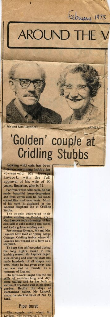 newspaper clipping from 1973