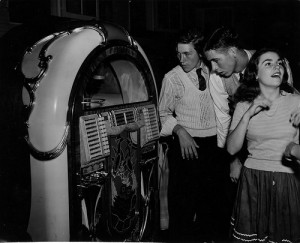 1950s youth culture  centred around the juke box.