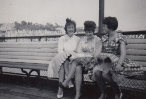Teenage girls on Clevedon Pier. Early 1960s. Donated by Mrs Mary Parkyn