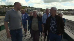 Inside out interview on Clevedon Pier.