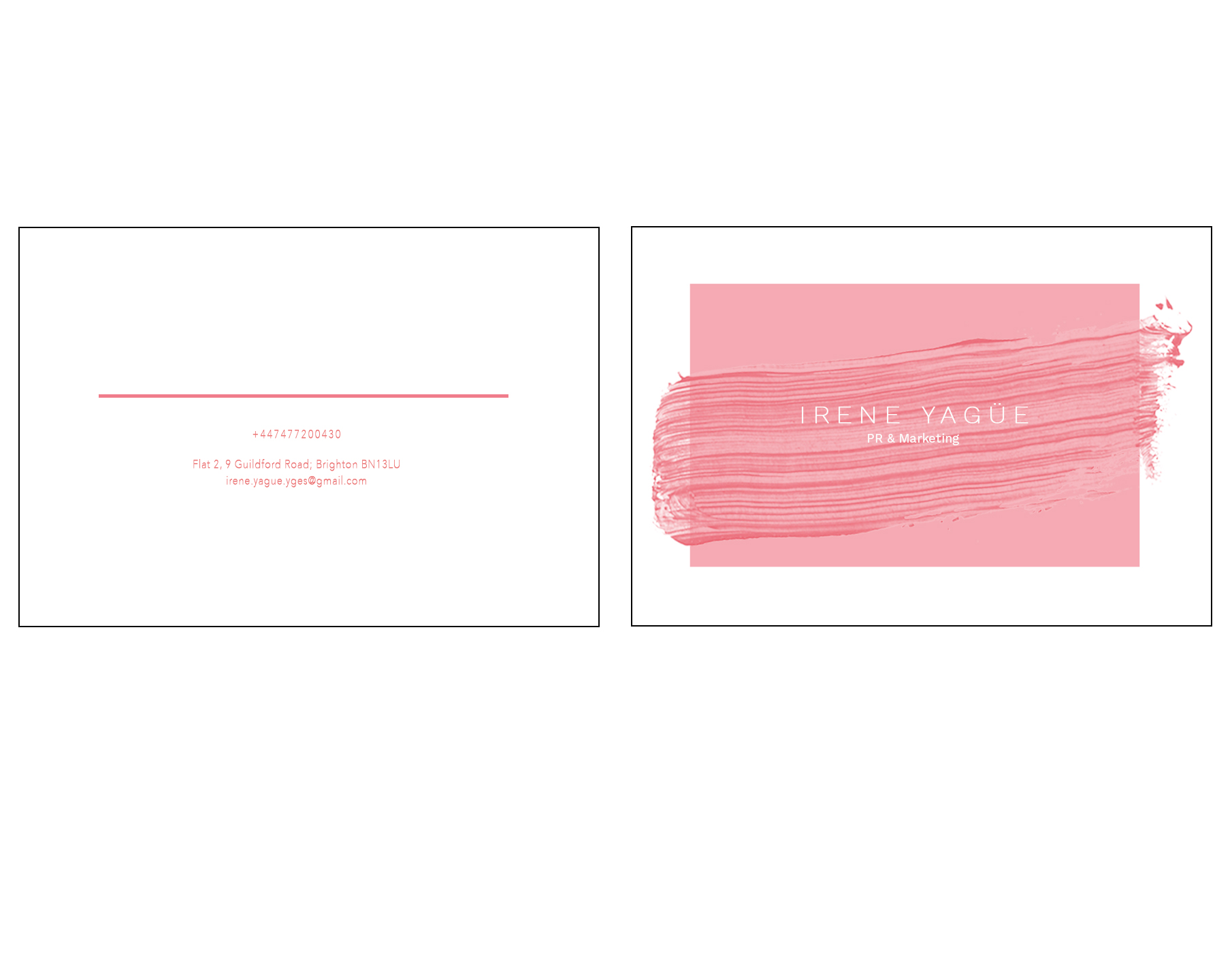 Portfolio and business cards options irene yague posted in portfolio promotion reheart Images