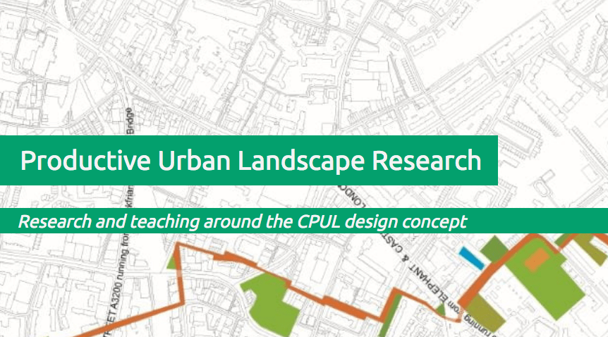 Productive Urban Landscape Research map image