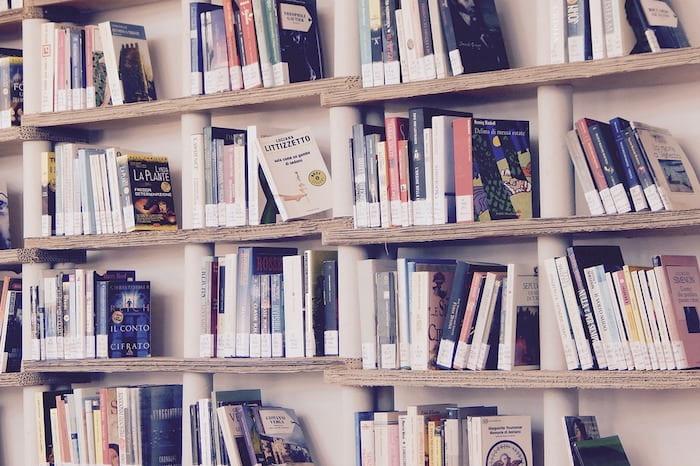 photo of shelves of books
