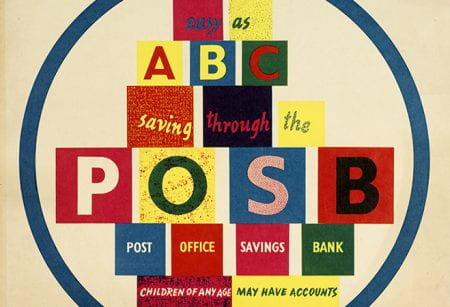 Detail from an Arnold Rothholz designed Post Office Savings Bank poster. Taken from the Arnold Rothholz Archive housed at the University of Brighton Design Archives.