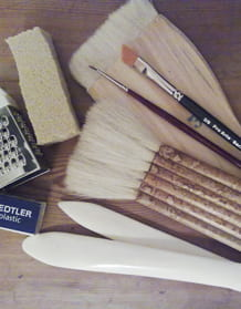 A selection of paper conservation tools