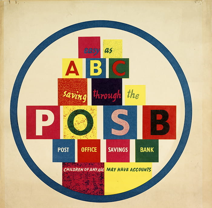 A colourful from a selection of posters designed by HA Rothholz for the General Post Office and Post Office Savings Bank (1948). Taken from the HA Rothholz Archive housed at the University of Brighton Design Archives.