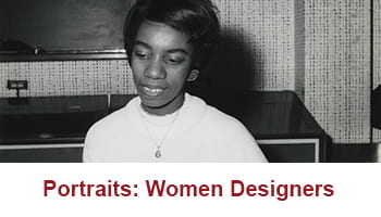 Button taking you to Portraits: Woman Designers digital resource