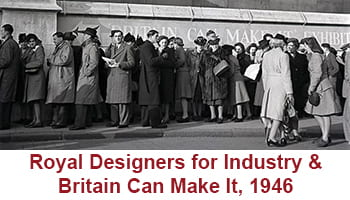 Button taking you to Royal Designers for Industry & Britain Can Make It (1946) digital resource