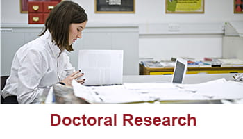 A button to take you to the Doctoral Research link