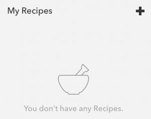 IF Add a recipe