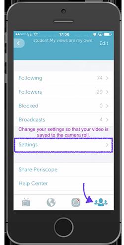 periscope settings 1