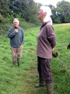 Margaret assesses whether the ash trees are being attacked by fungus or are struggling with the sudden dry spell.