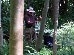 David tackles slightly larger trees