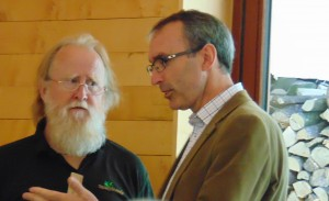 On the left is Phil Tidey who has written about New England Woods and knows the place very well and on the right is Gabriel Hemery - CEO of Sylva - who gave an inspirational talk about our relationship with woodlands in this country.