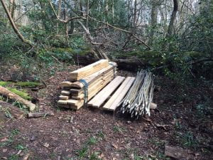 The wood that came from two fallen oak trees