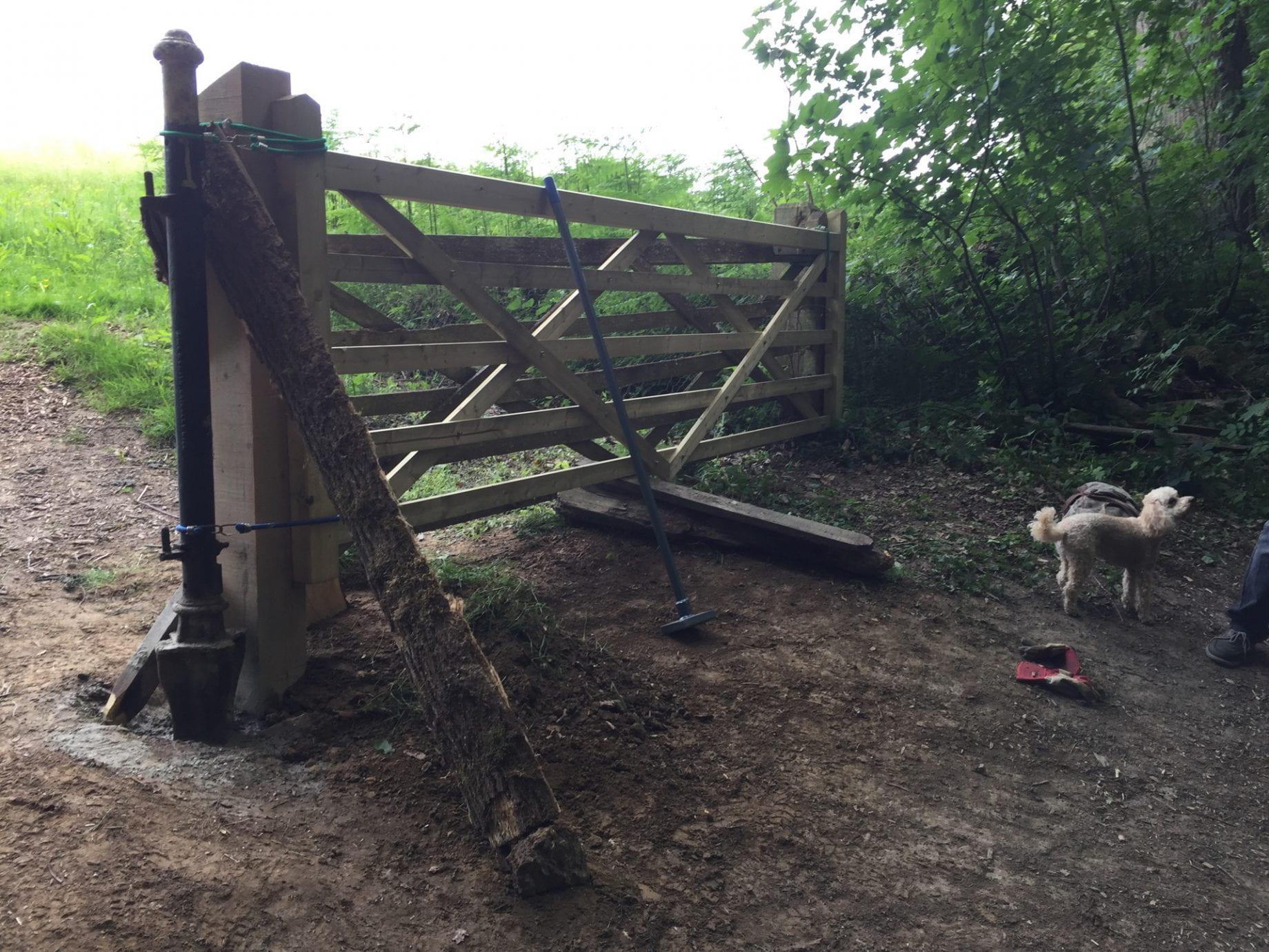 Beginning of the North gate repairs