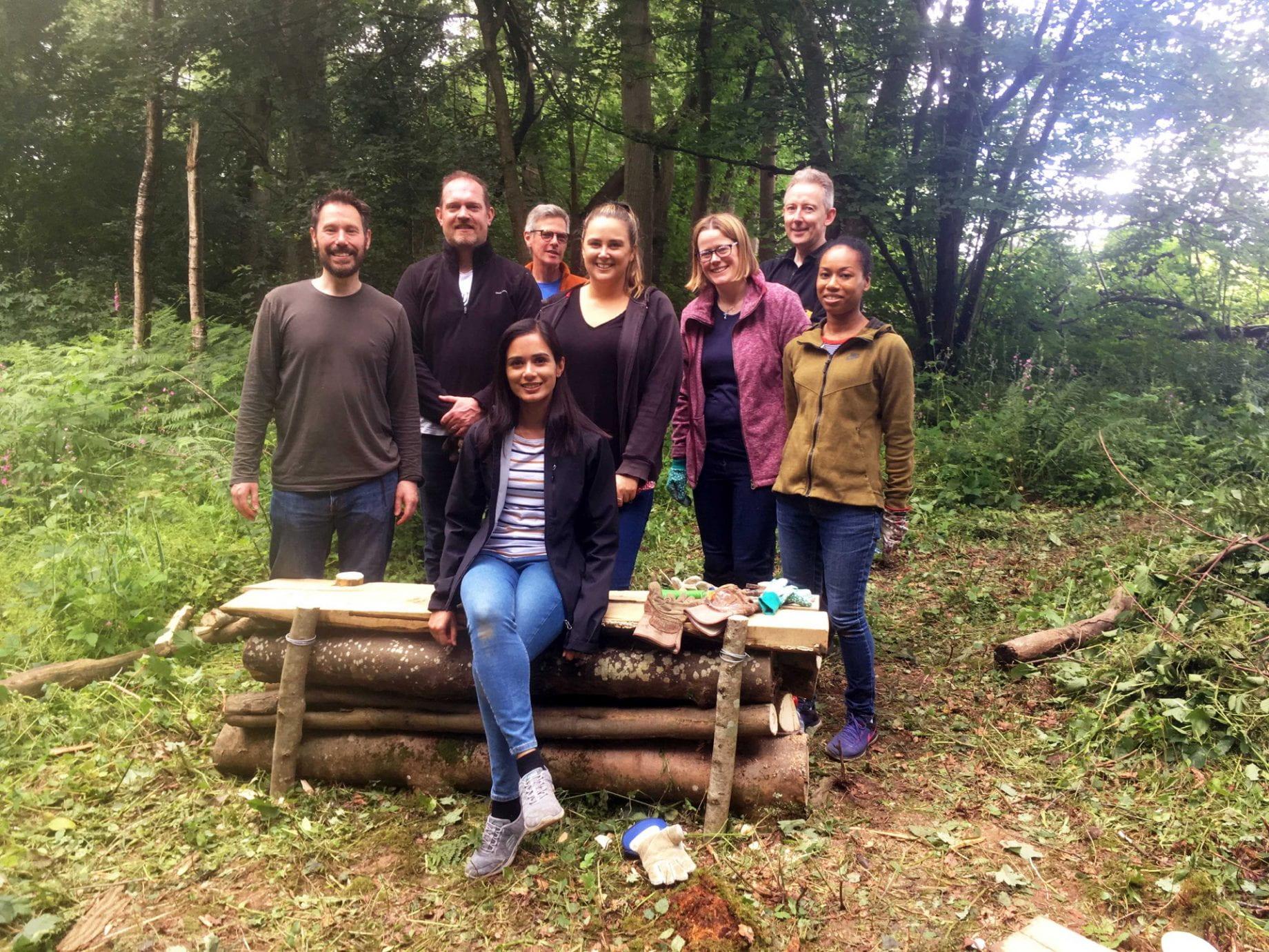 volunteers from UK Power Networks based in 3 Bridges