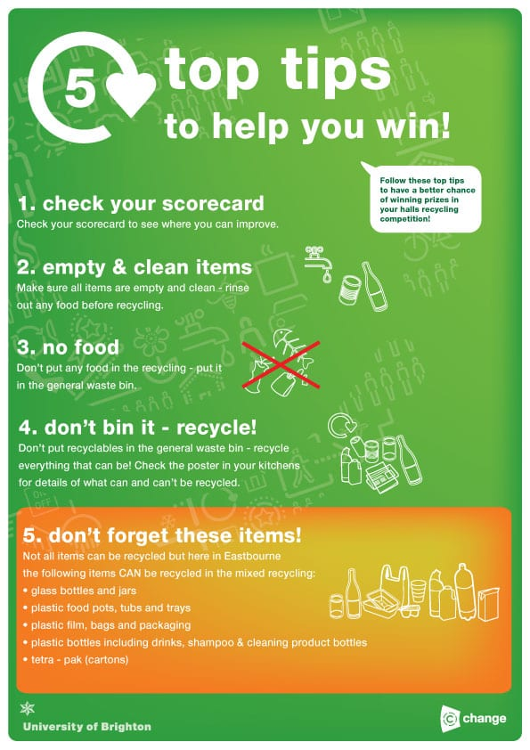 Halls Recycling Competition C Change