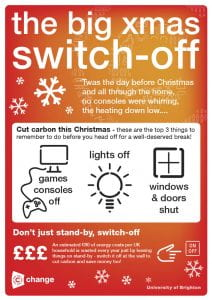 Big Xmas Switch Off poster