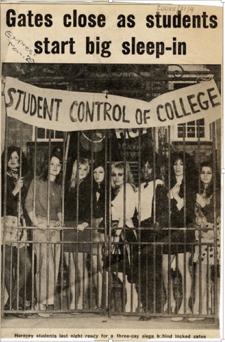 photograph of Hornsey School of Art Occupation May 1968