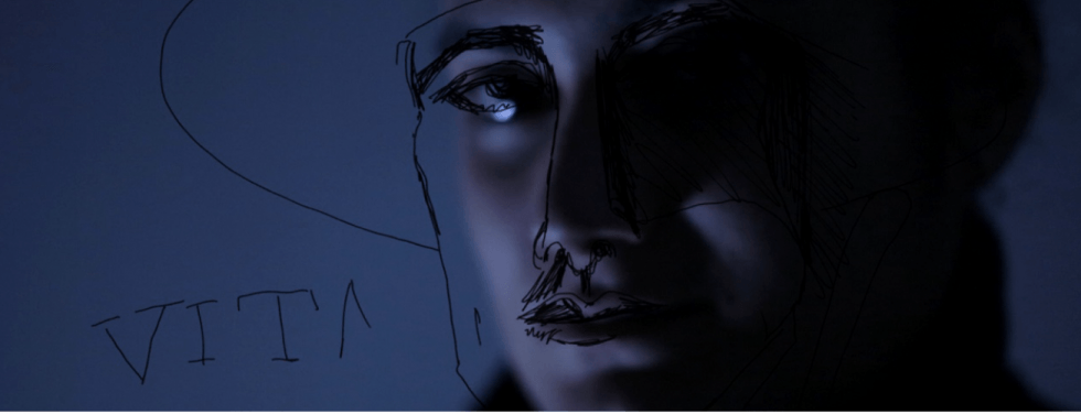 Line drawing of Vita