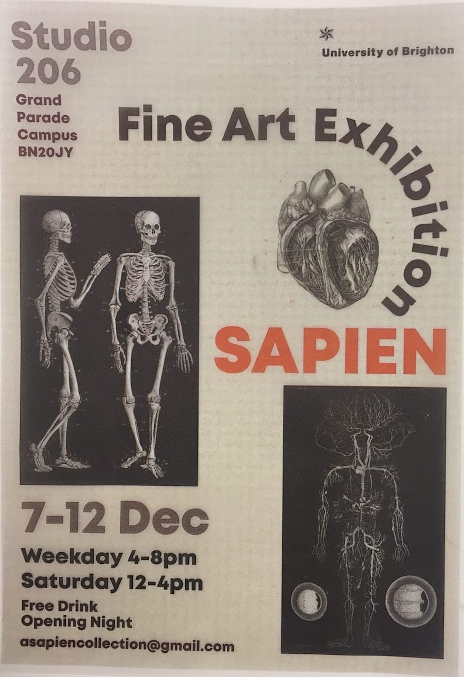 exhibiiotn poster for first year show