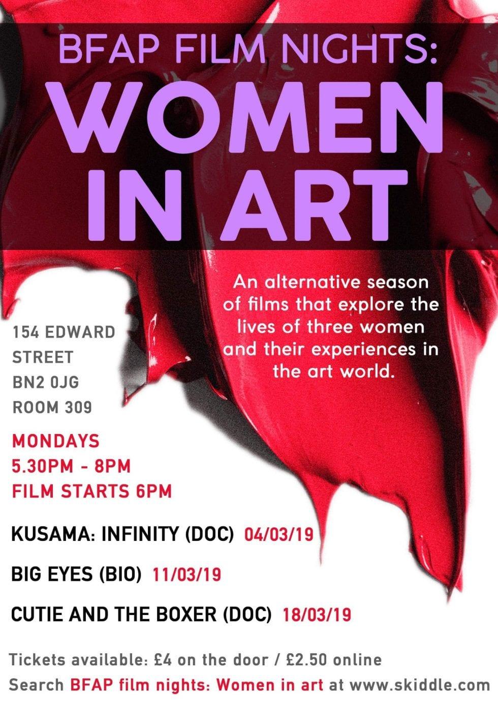 poster for 'Women in Art'