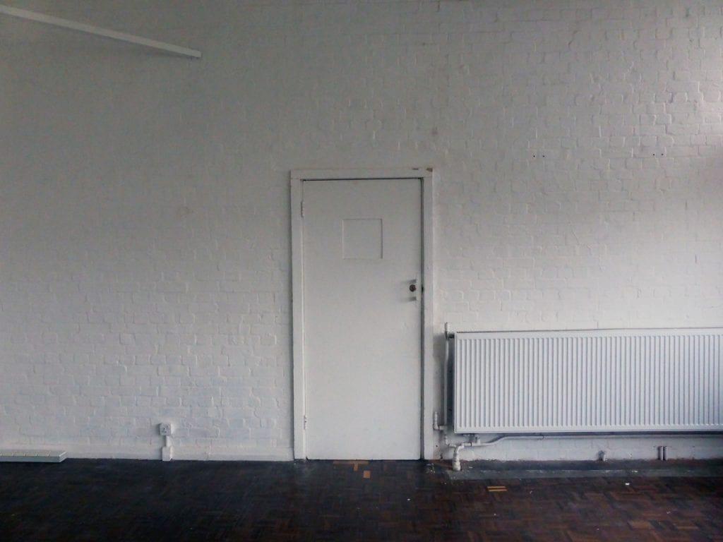closed door in while empty studio